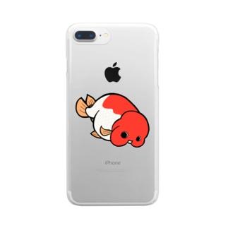らんちゅう Clear smartphone cases