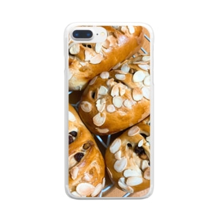 浮かれ黒糖くるみレーズンパン Clear smartphone cases