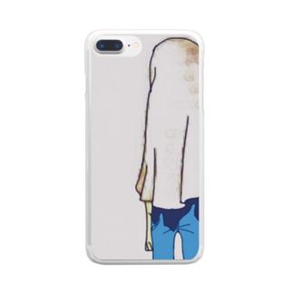 お先真っ暗 Clear smartphone cases