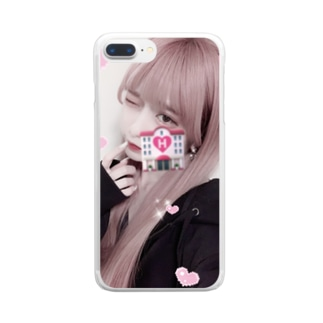 暗黒微笑のp!nk Clear smartphone cases