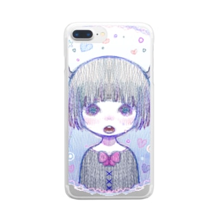 きらきら海岸 Clear smartphone cases