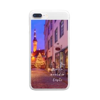エストニア クリスマススマホケース Clear smartphone cases