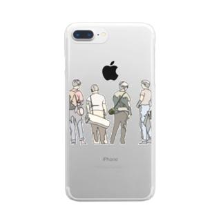 すたんどばいみー Clear smartphone cases