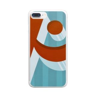 ビックリ顔の'ド' Clear smartphone cases