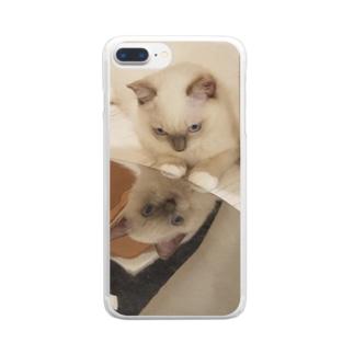 鏡のもなか Clear smartphone cases