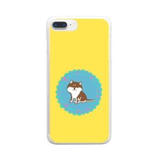 レトロ柴犬くん Clear smartphone cases