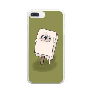 おっぱアイス Clear smartphone cases