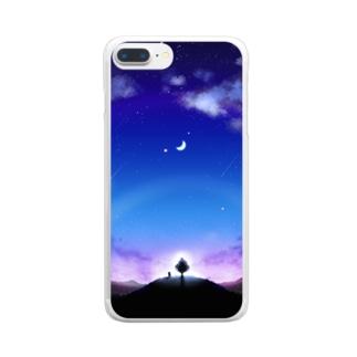 あーすないとでー Clear smartphone cases