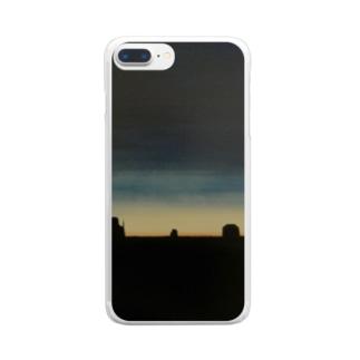 美しい夜明け Clear smartphone cases