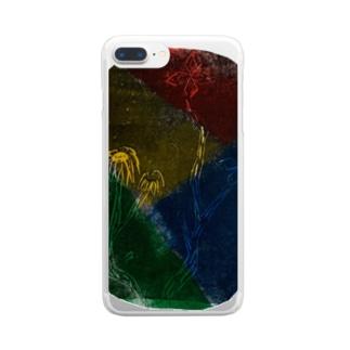 木版画さん Clear smartphone cases