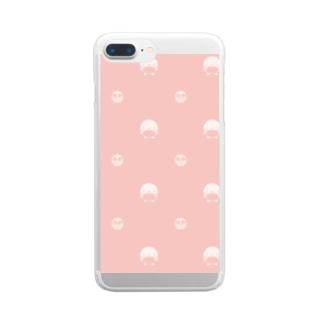 まるペンギン(エンペラー) Clear smartphone cases