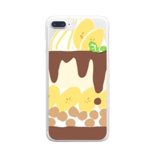 バナナパフェの断面 Clear smartphone cases