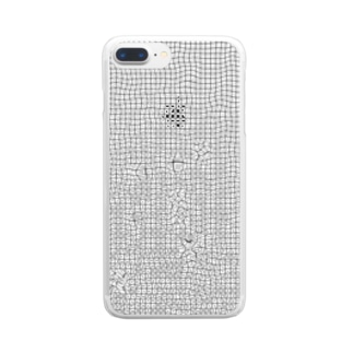 Grid warp Clear smartphone cases