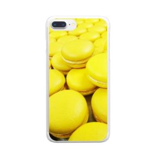 無限マカロン Clear smartphone cases