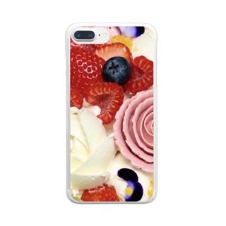 花とフルーツ Clear smartphone cases