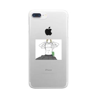 お腹 Clear smartphone cases