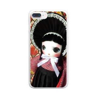 文化人形 カノ Clear smartphone cases