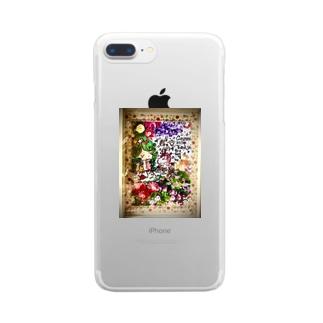 花🌼の妖精さん Clear smartphone cases