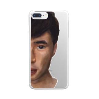 神十田スマホケース Clear smartphone cases