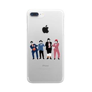 しゃんぶる Clear smartphone cases