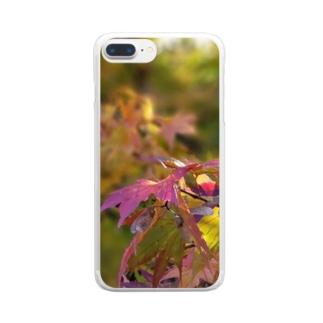 もみじちゃん Clear smartphone cases