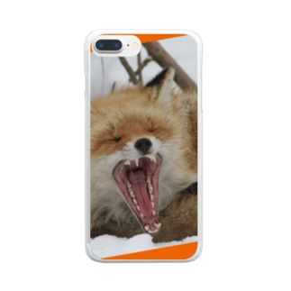 【にこらび】キタキツネ橙◇002 Clear smartphone cases