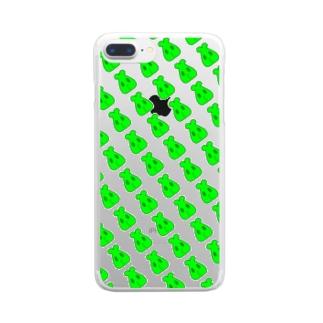 ちゅうまる Clear smartphone cases