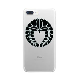 下がり藤 Clear smartphone cases
