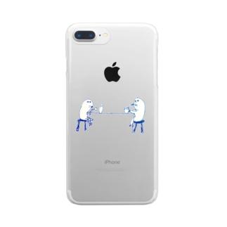 場末のサシ飲み Clear smartphone cases
