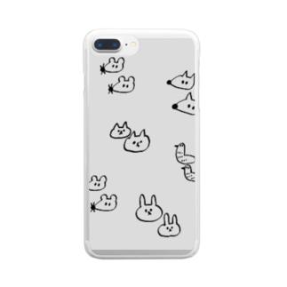 ゆるしゅーる王国 Clear smartphone cases