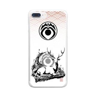 《神鹿隊》デザイン Clear smartphone cases