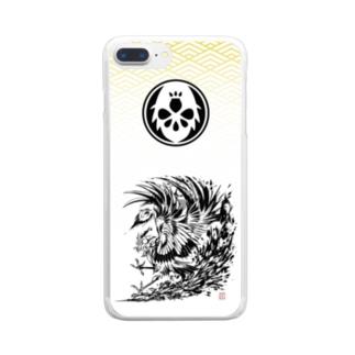《鳳凰》デザイン Clear smartphone cases
