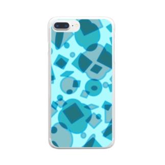 キラキラ Clear smartphone cases