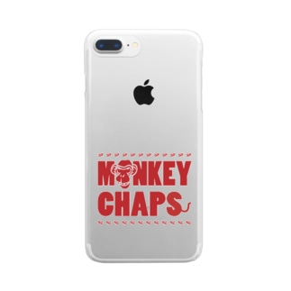 MONKEY CHAPS ロゴ Clear Smartphone Case