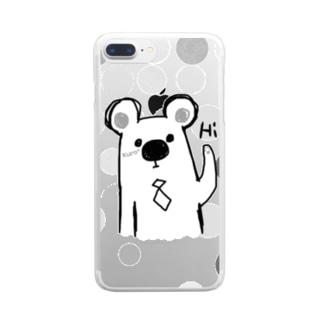 シロクマ Hi. Clear smartphone cases