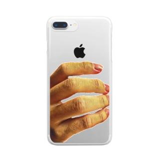 僕の手 Clear smartphone cases
