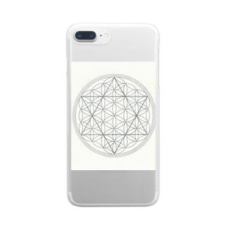 3フラワーオブライフ Clear smartphone cases