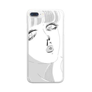 だって好きなんだもん。つけま Clear smartphone cases