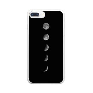 月の満ち欠け Clear smartphone cases