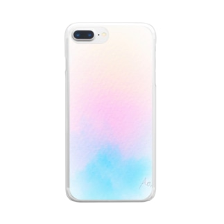 Winter 水彩 Clear smartphone cases