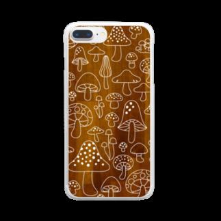 おおにしりえのきのこ Clear smartphone cases
