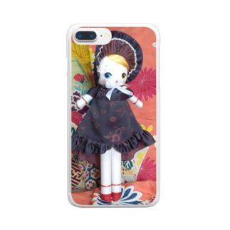 文化人形 氷月 Clear smartphone cases