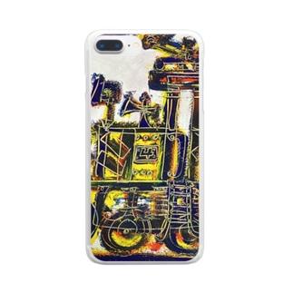 DB君No.002 ねずみ君のきかんしゃ Clear smartphone cases