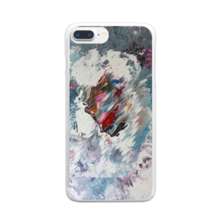 Side Face 001 Clear Smartphone Case