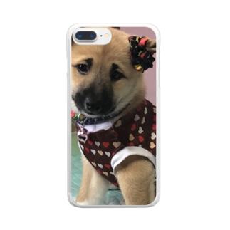 小梅ちゃん Clear smartphone cases