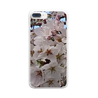 桜いっぱい Clear smartphone cases