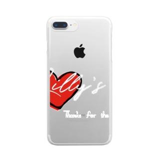 ハート黒縁 Clear smartphone cases