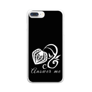 hosimaruの答えてよ モノクロ2 Clear smartphone cases