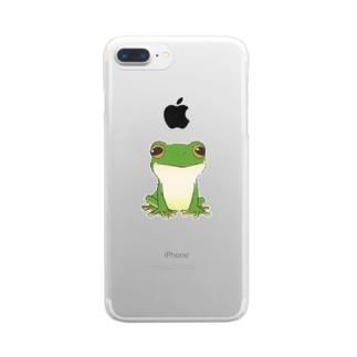 猫キャラクター・シルエット・取りたい Clear smartphone cases