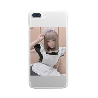 メイドよはちゃん Clear smartphone cases